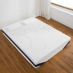 "12"" Inch Queen Size COOL & GEL Memory Foam Mattress Medium F"