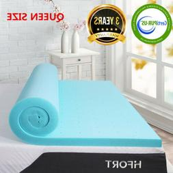 2 inch Memory Foam Mattress Topper Comfort Bed Cooling Gel-I