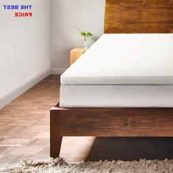 """2"""" Memory Foam Mattress Topper & Bed Pad by Lucid - All Size"""