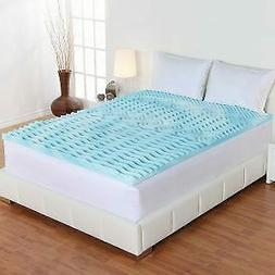 """2"""" ORTHOPEDIC MEMORY FOAM MATTRESS Topper Queen Size Bed Pad"""