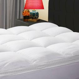 400TC Cotton Mattress Pad Extra Thick Cooling Topper Pillow
