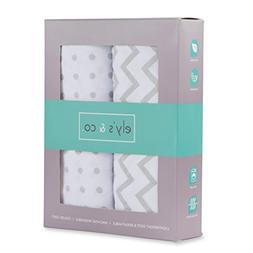 Changing Pad Cover Set , Cradle Sheet 2 Pack 100% Jersey Cot