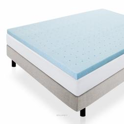 Lucid 2 in King Infused Memory Foam Mattress Pad Bedding Bed