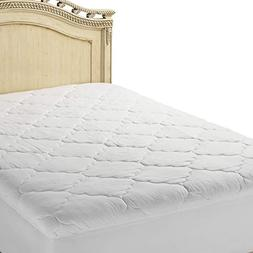 Micropuff Quilted Mattress Pad White Microfiber Fitted Mattr