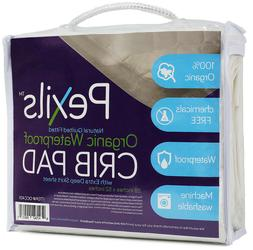 AllerEase Organic Cotton Cover Allergy Protection Waterproof Mattress Pad Full American Textile Company 47512ATC