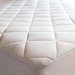 Quilted Mattress Protectors Pad White Fitted Waterproof Cott