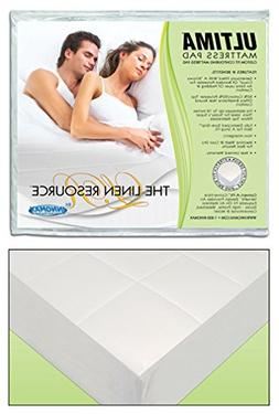 Waterbed Mattress Pad Fully Fitted Heavy Quilted Super Singl