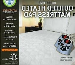Biddeford Automatic Heated Quilted Mattress Pad White Color
