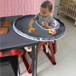 YJYdada New Baby Dinner Mat Cover Waterproof Highchair Bumpe