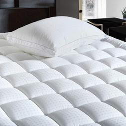 New Extra Thick Pillow Top Pad Topper Bed Cover Queen Size