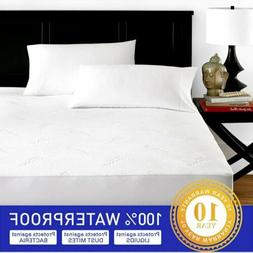 Bamboo Mattress Cover Protector Waterproof Pad All Size Bed