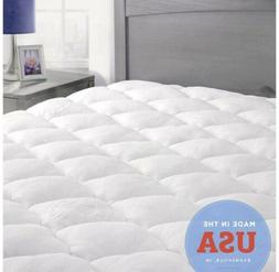 ExceptionalSheets Bamboo Mattress Pad with Fitted Skirt -Kin
