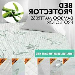 Bamboo Mattress Protector Fitted Cover Pad Utopia Bedding Hy
