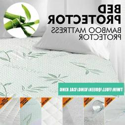 Bamboo Mattress Protector Full Size Soft Bed Topper Cover Pa