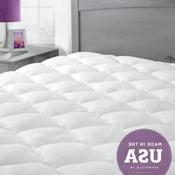 ExceptionalSheets Bamboo Queen Mattress Pad with Fitted Skir