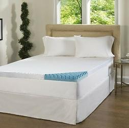 Beautyrest 4 inch Gel Memory Foam Mattress Topper Pad w/ Cov