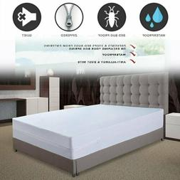 Bed Bug Waterproof Zippered Sleeping Mattress Cover Protecto