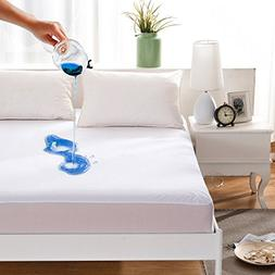 Maevis Bed Waterproof Mattress Protector Cover Pad Fitted 18