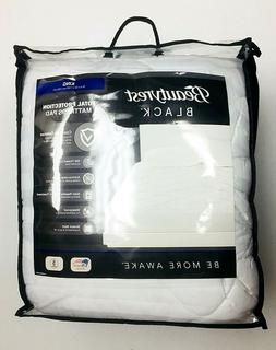 Beautyrest Black King Size Mattress Pad Total Protection Wat