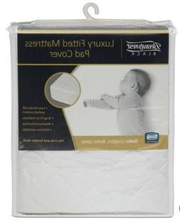 Beautyrest Black Luxury Fitted Baby Crib Mattress Pad Cover