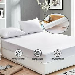 Breathable White King Size Waterproof Mattress Pad Bed Prote