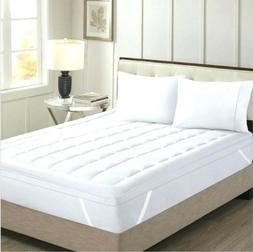 Comfort Mattress Pad 18 Inch Deep Pocket Egyptian Cotton Whi