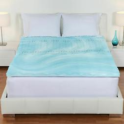 "Queen Size Authentic Foam Mattress Topper 3"" Inch 5 Zone Ort"