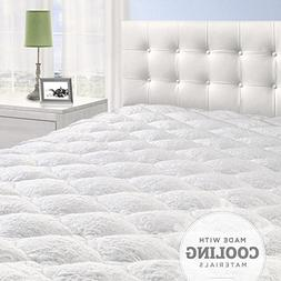 Cooling Overfilled Pillow Top Mattress Pad/Topper with Fitte