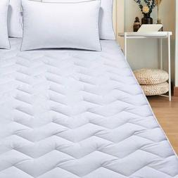 """Mattress Cover Pad Stretches Up To 18"""" Deep Quilted Fitted B"""