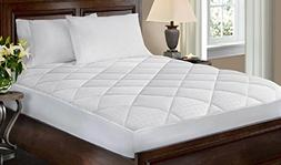 Crowning Touch 500 Thread Count White Mattress Pad, Queen