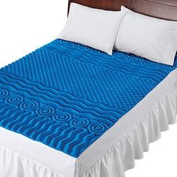 Deluxe Cooling Mattress Pad Topper With 7 Zones, by Collecti