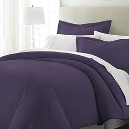 Simply Soft Duvet Cover Set, King, Purple