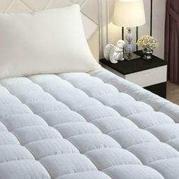 Easeland Quilted Fitted Mattress Pad -Pillow Top Mattress Co