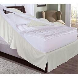 Rest Remedy Easy-on Bedskirt and Box Spring Protector Ecru T