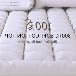 Extra Thick Mattress Topper Queen Size Down Alternative Pill