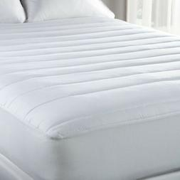 "Fitted Mattress Pad 15"" Deep 100% Cotton Cover - Polyester F"