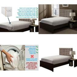 Fitted Quilted Mattress Pad Cover King Size Comfortable Bed