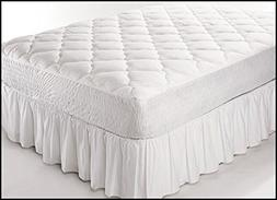 Fitted Quilted Modern Cot Mattress Cover - Waterproof Cotton