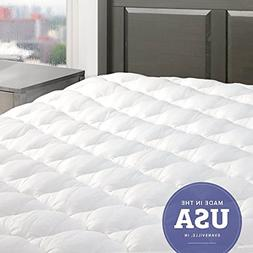 eLuxurySupply Five Star Mattress Pad with Fitted Skirt - Hy