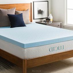 LUCID 3-inch Gel Memory Foam Mattress Topper - Twin