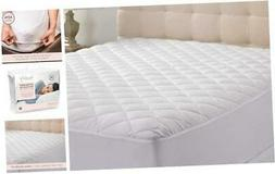 Hypoallergenic Quilted Stretch-to-Fit Mattress Pad by Hannah