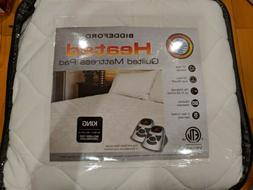Biddeford Heated QUILTED KING Mattress Pad with Controller A