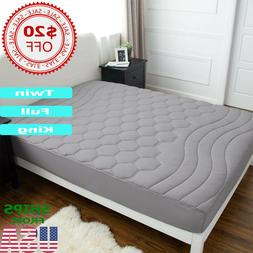 Mattress Pad Cover Hypoallergenic Bed Protector Soft Topper
