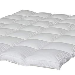 """Mattress Topper Queen Size 2"""" Thick Quilted Hypoallergenic A"""