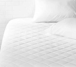 AmazonBasics Hypoallergenic Quilted Mattress Topper Pad Cove