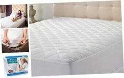 Hypoallergenic Quilted Stretch-to-Fit Mattress Pad by Hanna