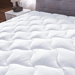 YOUMAKO King Size Mattress Pad Cover Hypoallergenic Quilted