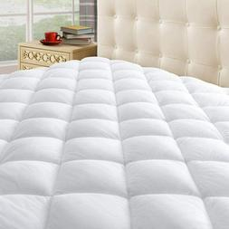 Taupiri King Quilted Mattress Pad Cover with Deep Pocket  Hy