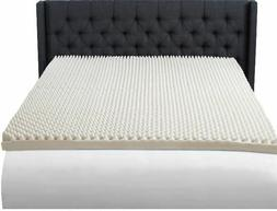 "King Size 3"" Foam Mattress Topper Egg Crate Convoluted Recov"