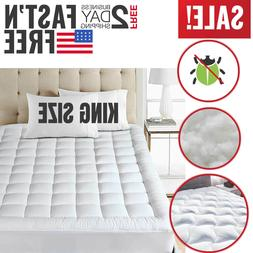 King Size Mattress Pad Cover Snow Down Alternative Pillow To
